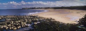 England, Tyne and Wear, Tynemouth. Looking south on a mid summers day across the
