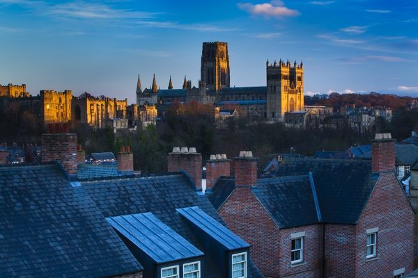England County Durham Durham City Skyline Of The City Of Durham