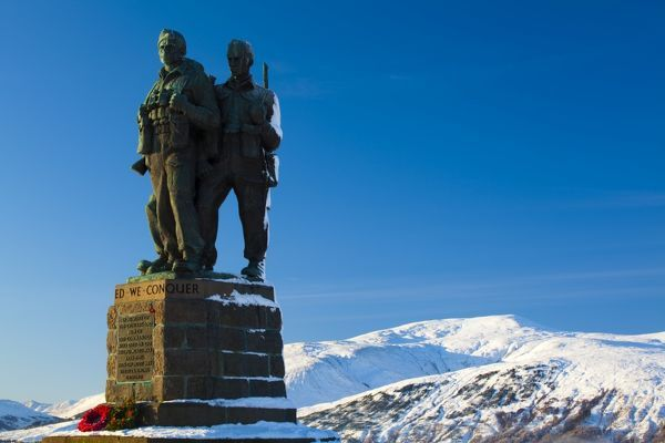 Scotland, Scottish Highlands, The Great Glen. The Commando Memorial near Spean Bridge in the Great Glen commemorates the commandos who trained in the area during the Second World War