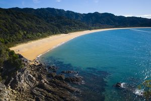 New Zealand, Nelson, Abel Tasman National Park. Goat Bay viewed from Skinner Point