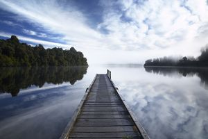 New Zealand, Westland, Lake Mapourika