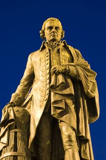 Scotland, Edinburgh, The Royal Mile. Statue of Adam Smith, considered by many to